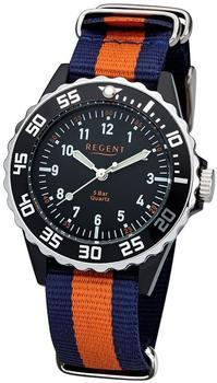 Regent Uhr - Kunststoff Jugenduhr mit Textilband - F1125