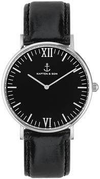 Kapten & Son Campus Silver all black
