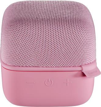 Hama Mobiler Bluetooth-Lautsprecher Cube rosa