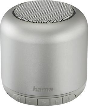 "Hama Mobiler Bluetooth-Lautsprecher ""Steel Drum"" silber"
