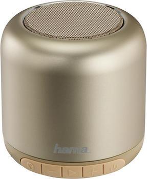 """Hama Mobiler Bluetooth-Lautsprecher """"Steel Drum"""" gold"""