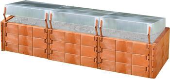 Juwel XL mit 3 Thermohauben terracota