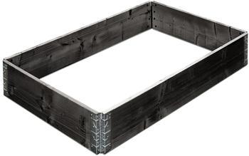 Gartenfreude Hochbeet 120 x 80 x 19,5 cm schwarz