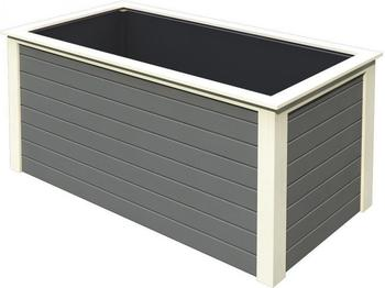 Karibu Hochbeet 1 (209 x 111 x 92 cm) terragrau