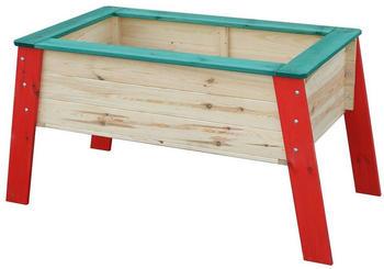 Beluga Kinder-Hochbeet 119 x 59 x 60 cm natur/rot/grün