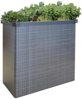 Juwel Falthochbeet Easy Garden Rattan 80x40x75cm grau