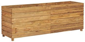 vidaXL Hochbeet Teak Altholz und Stahl 150x40x55cm