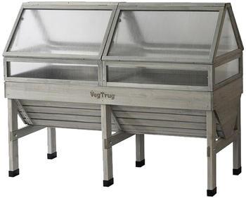 VegTrug Frühbeetaufsatz für Hochbeet Medium 180cm grey wash