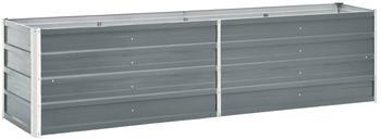 vidaXL Garten-Hochbeet Verzinkter Stahl 240x40x45cm Grau