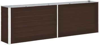 vidaXL Garten-Hochbeet Verzinkter Stahl 240x40x77cm Braun