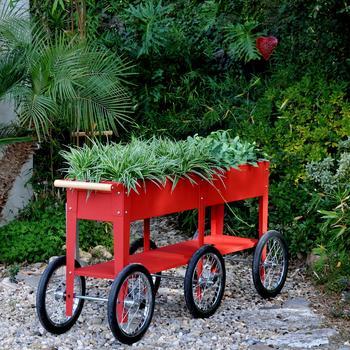 Herstera Garden Kräuterfabrik Wheels 150x35x80cm rot (HG08937901)