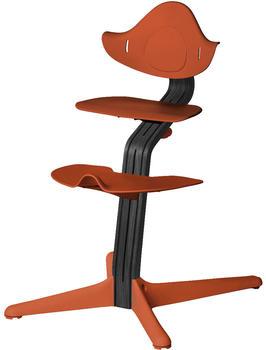 Evomove Nomi Hochstuhl - Eiche schwarz lackiert burnt orange