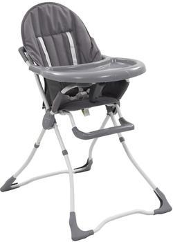 vidaXL Baby high chair gray/white