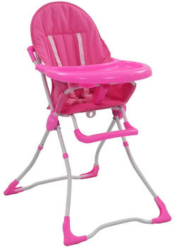 vidaXL Baby high chair pink/white