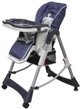 vidaXL Baby high chair deluxe dark blue