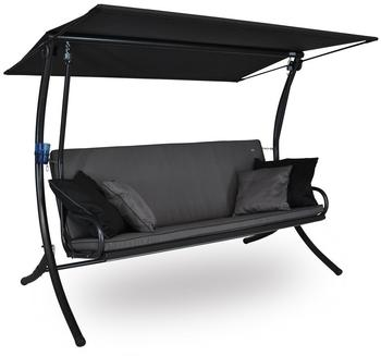 Angerer Royal Style Hollywoodschaukel 3-Sitzer (Design Style grau)
