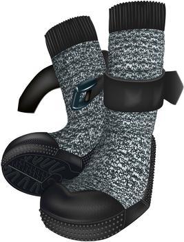 Trixie Walker Socks XS Schwarz Meliert/Schwarz 2St.