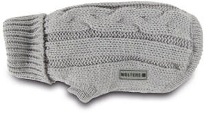 Wolters Zopf-Strickpullover 25cm silber