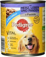 Pedigree Classic Adult Herz, Leber & Pansen in Pastete (800 g)