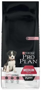 Purina Pro Plan Puppy Medium Sensitive Skin OptiDerma (12 kg)