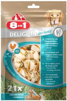 8in1 Delights Kauknochen XS 21 St.