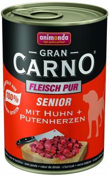 Animonda Gran Carno Senior Huhn und Putenherzen (400 g)