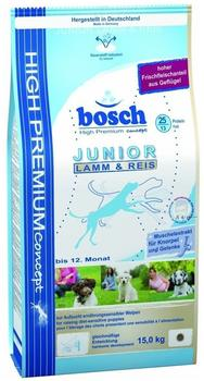 bosch High Premium Concept Junior Lamm & Reis (15 kg)