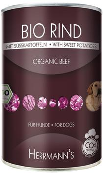 Herrmanns Hundefutter Bio Menü 800g mit Rind+Kartoffeln+Kürbis