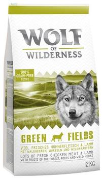 Wolf of Wilderness Adult Green Fields Lamm 12 kg