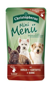 Allco Christopherus Mini Menü Hirsch, Kartoffel & Birne (125 g)