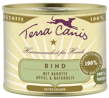 Terra Canis Rind mit Karotte, Apfel & Naturreis (200 g)
