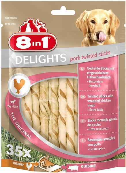 8in1 Delights Pork Twisted Sticks 35 Stück