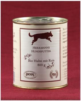 Herrmanns Hundefutter Bio Huhn mit Reis & Karotte (800 g)