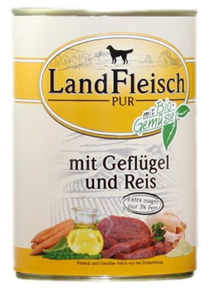 Dr. Alder's Landfleisch Pur Rinderherzen, Reis & Wildapfel (400 g)