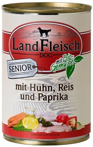 Dr. Alder's Landfleisch Dog Senior Geflügel, Reis & Paprika (400 g)
