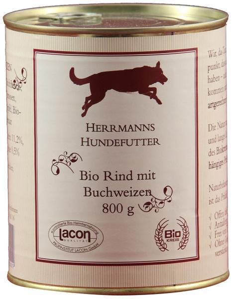Herrmanns Hundefutter Bio Rind mit Buchweizen (800 g)