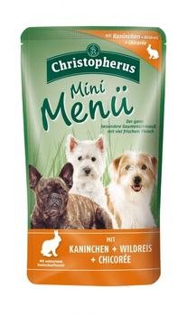 Allco Christopherus Mini Menü Kaninchen, Reis & Chicoree (125 g)
