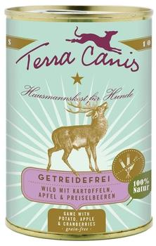 Terra Canis Wild mit Kartoffeln, Apfel & Preiselbeeren (400 g)