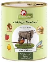 GranataPet Lieblings Mahlzeit Rind & Fasan 6 x 400 g