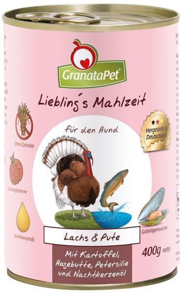 GranataPet Lieblingsmahlzeit Lachs & Pute, Kartoffel, Hagenbutten (400 g)