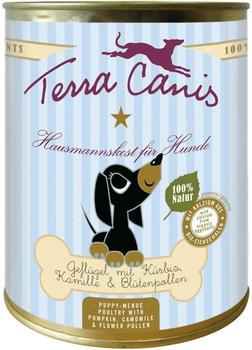 terra-canis-welpe-gefluegel-mit-kuerbis-kamille-und-bluetenpollen-6-x-400-g