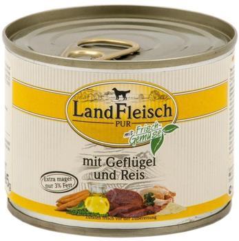 Dr. Alder's LandFleisch Pur Geflügel & Reis (195 g)
