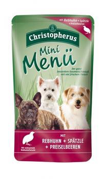 Allco Christopherus Mini Menü Rebhuhn, Spätzle & Preiselbeere (125 g)