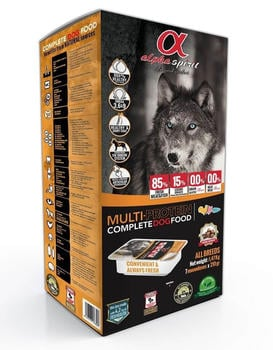 Alpha Spirit Complete Dog Food Multi Protein 9,45 kg