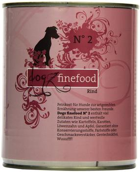 Dogz finefood No.2 Rind (800 g)