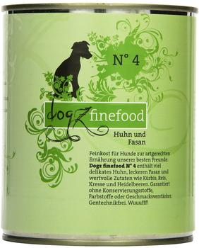 Dogz finefood No.4 Huhn & Fasan (800 g)