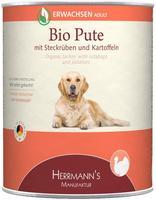 HERRMANNS Bio Pute mit Steckrübe, Kartoffeln und Fenchel 6 x 800 g