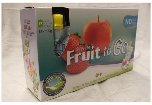 Servero Fruit to Go Apfel-Erdbeere 12 x 100g Trinkbeutel (Fruchtmus)