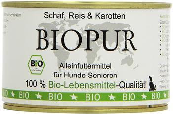 BIOPUR - Nassfutter - Senior Schaf, Reis & Karotten 6 x 400g (glutenfrei)