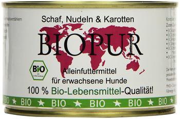 Biopur Bio Hundefutter Schaf, Nudeln, Karotten 400 g, 12er Pack (12 x 400 g)